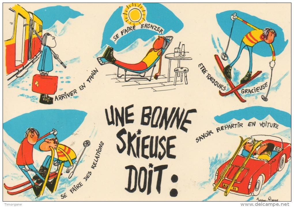Dessin Skieur Humoristique sports
